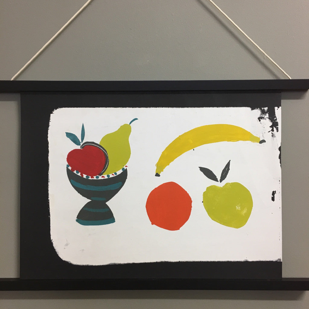 Fruit Bowl + Banana Print With Hanger