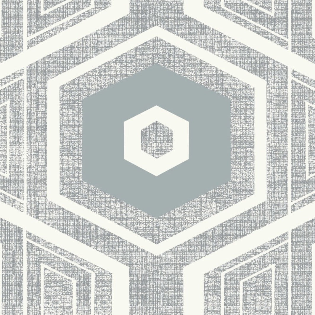 Retro Textured Polygon. Grey