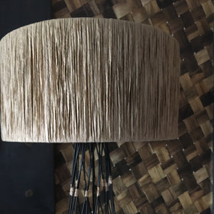 Wire and Raffia Lamp