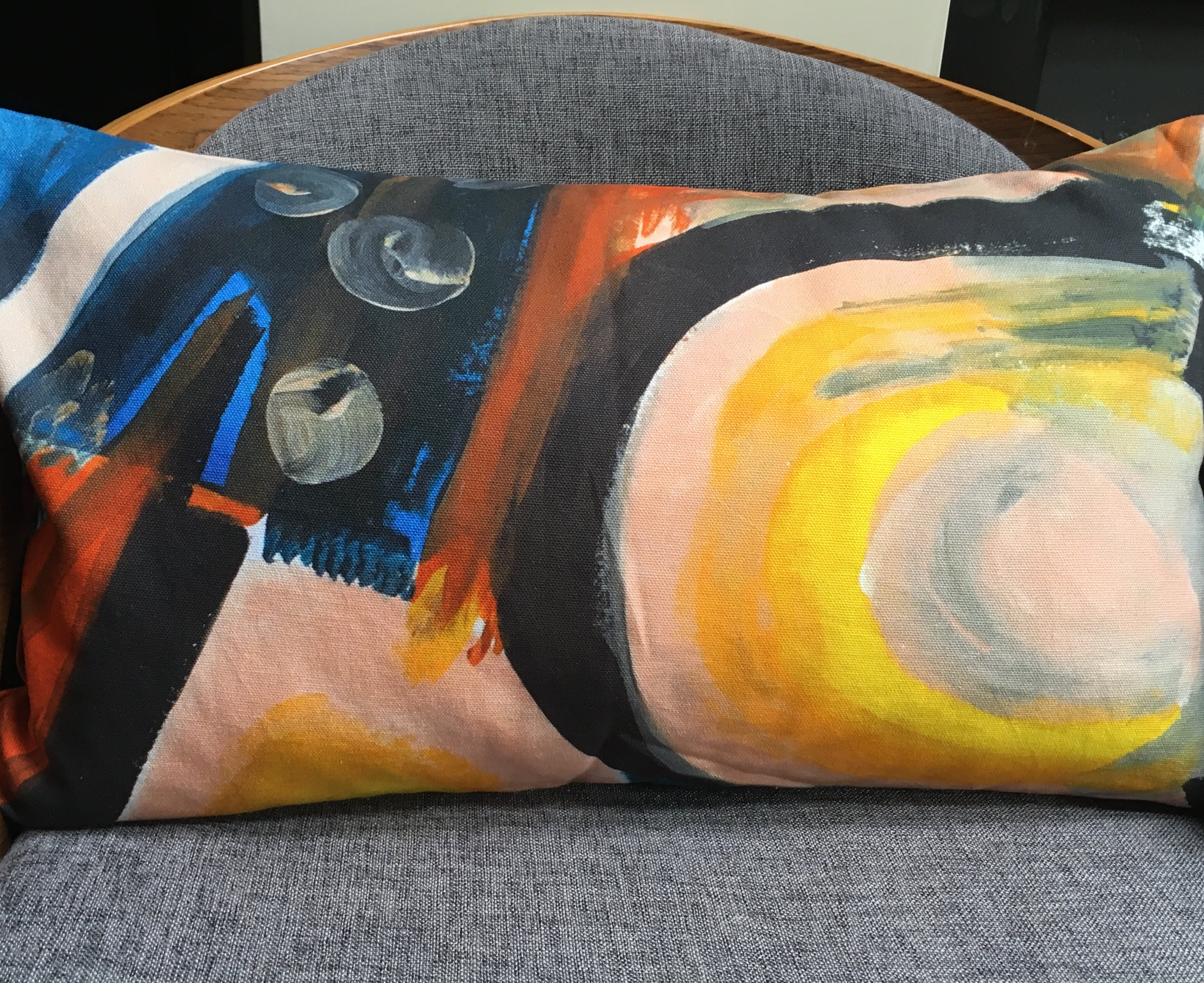 A gorgeous cushion created from artwork produced in the sharon jane studio.