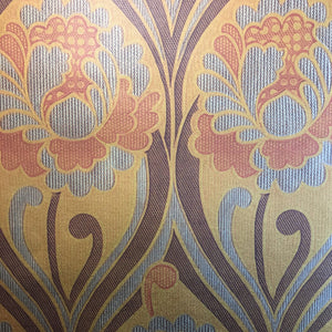 Vintage Orange 70s floral Wallpaper