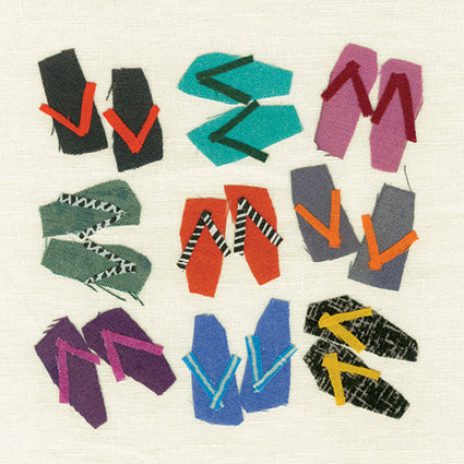 'Flip Flops  Greetings Card