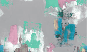Abstract Painterly Wallpaper- Grey