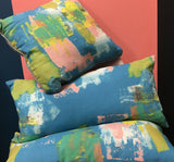 Abstract painted cushions