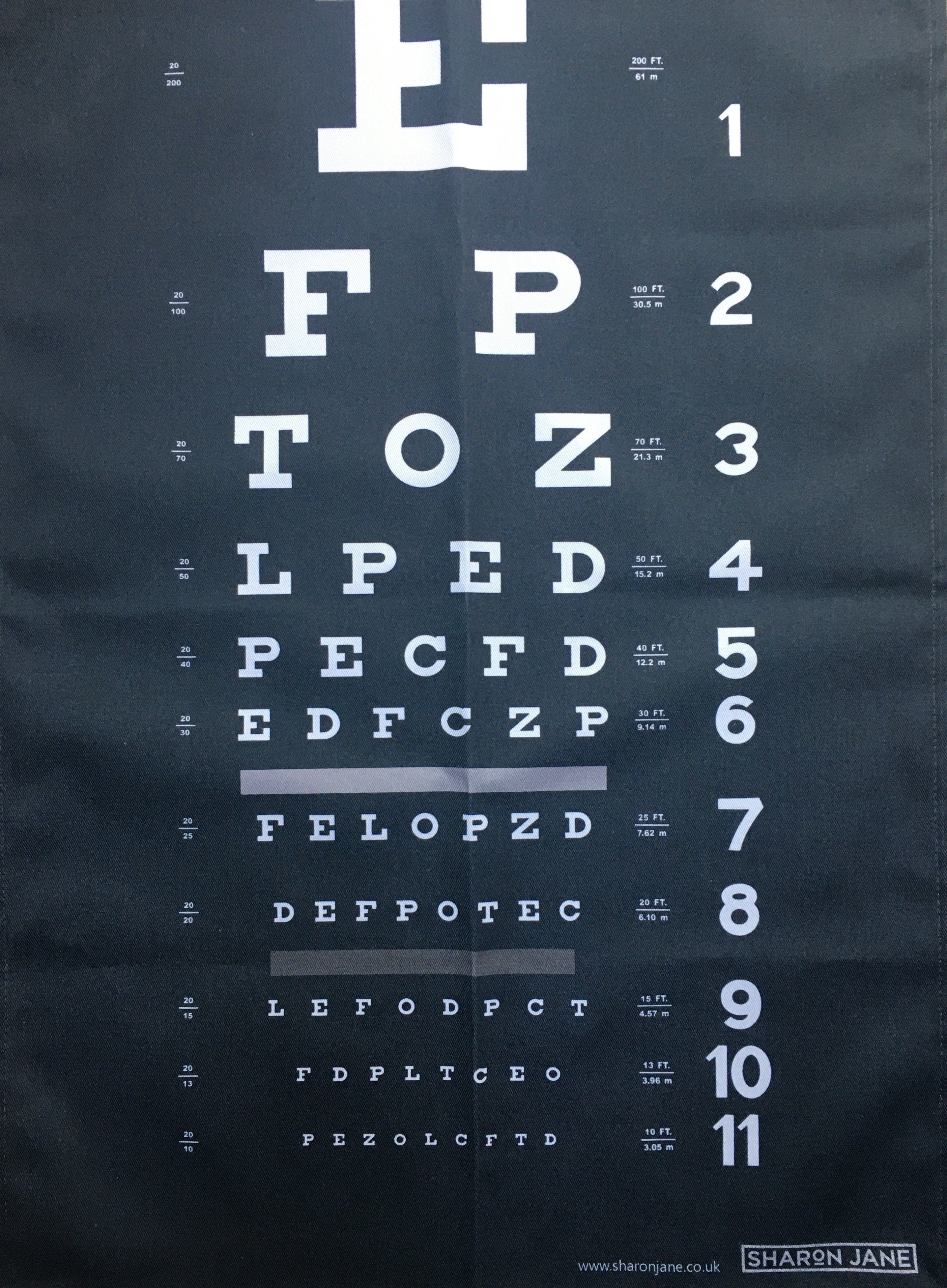 'Eye Test' Tea Towel