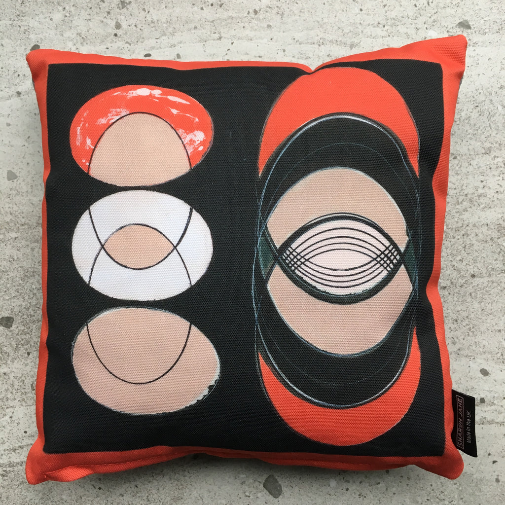 Coral Ellipse Mini Cushion