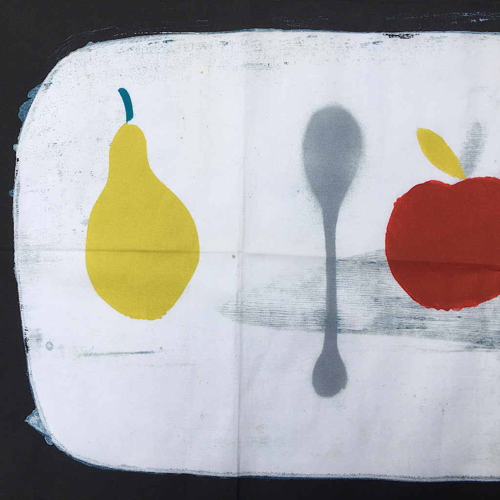 Apple + Pear + Spoon Tea Towel