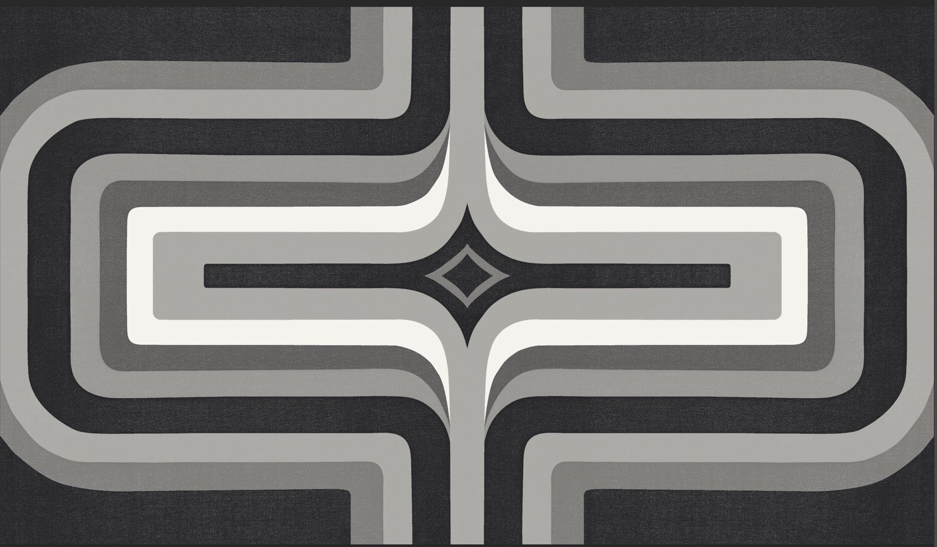 70s Geometric wallpaper Monochrome