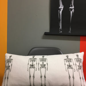 Handmade Skeleton white Cushion by STUDIO 26