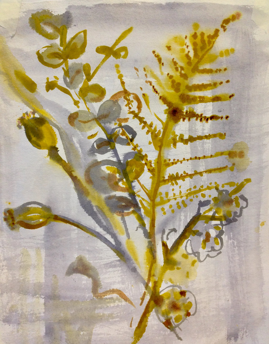 Ferns Watercolour Painting