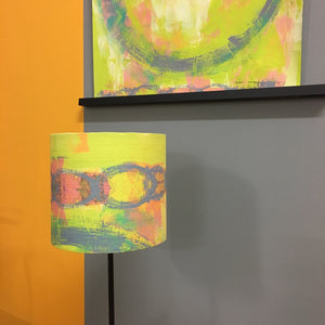 Yellow Circle Abstract Lampshade