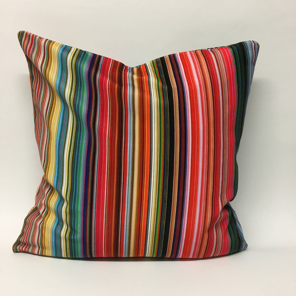 Candy Stripe Velvet Cushion