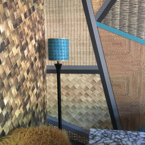 Wicker Geometric Turquoise + Mustard Wallpaper