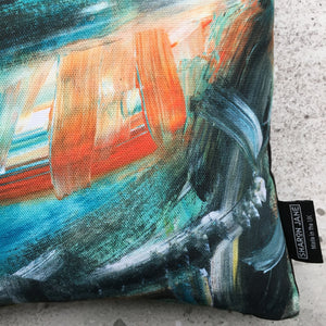 Painterly Multi-Colour Mini Cushion