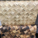 Palm woven natural wallpaper