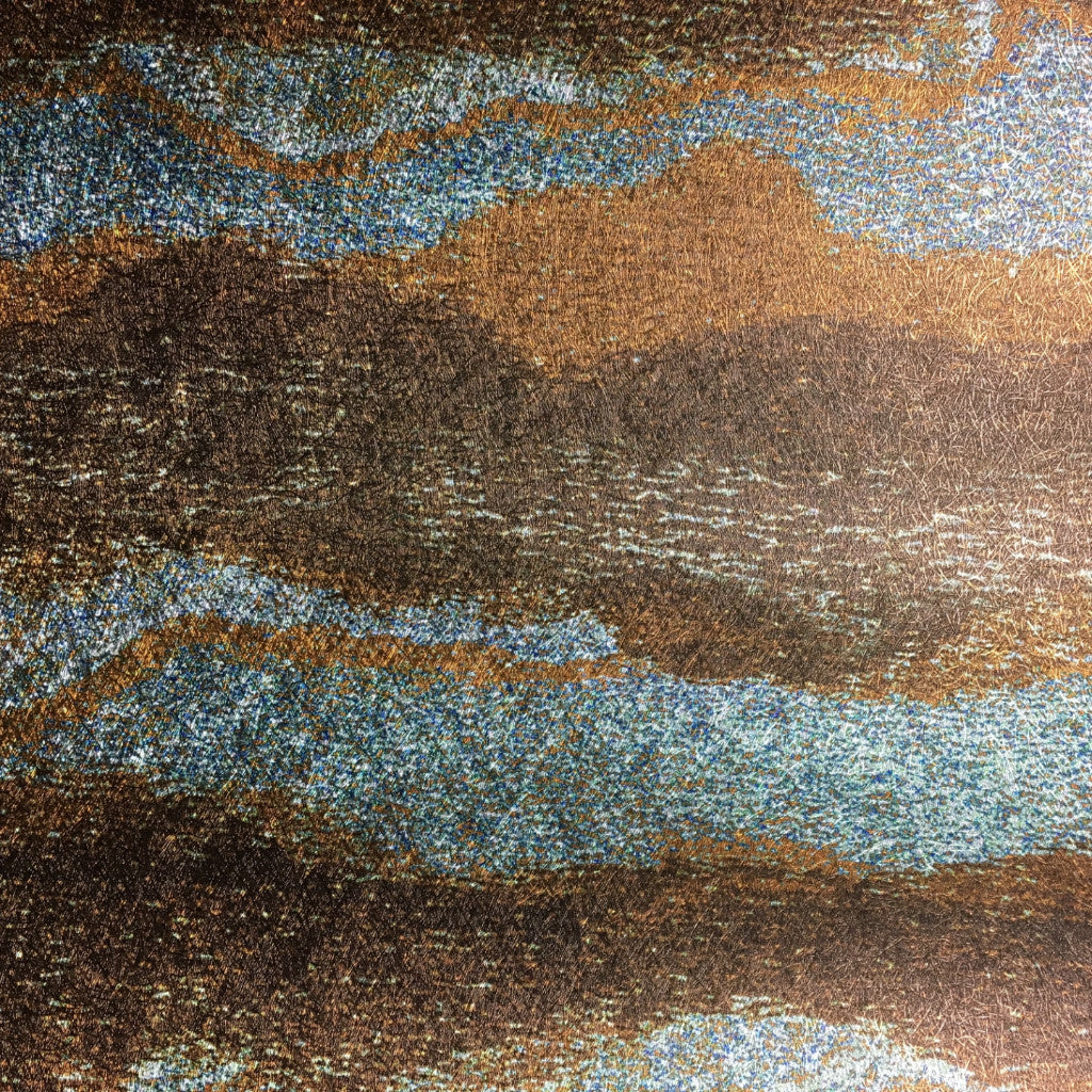 Bedrock Copper + Turquoise Wallpaper