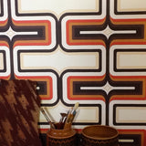 70s Geometric Wallpaper