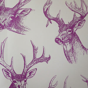 Purple Stags Head wallpaper