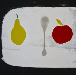 'pear + spoon' print by Helga + Otto