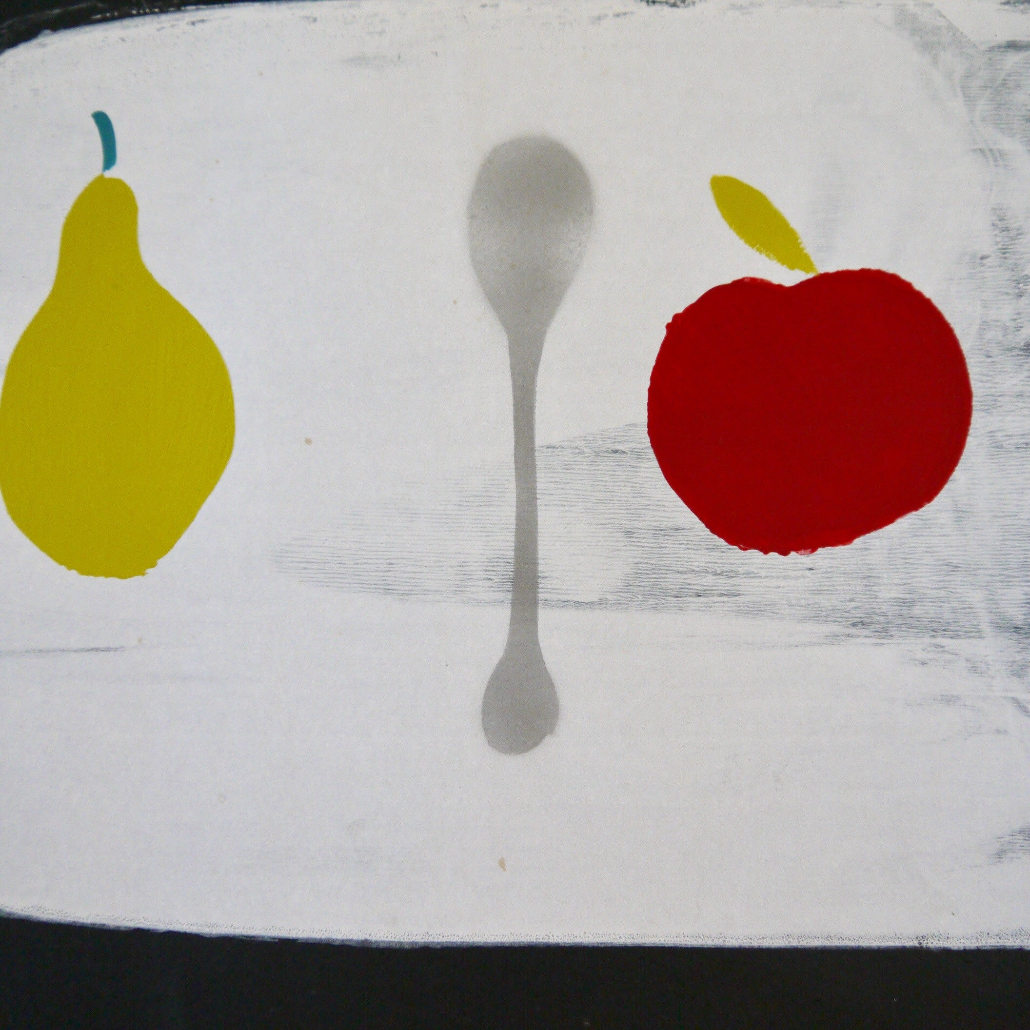 Apple + Pear + Spoon  print