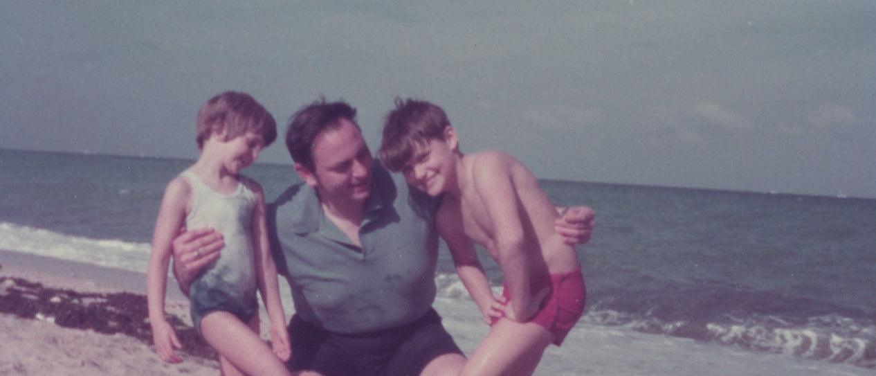 Dr. Joe with his family at the beach
