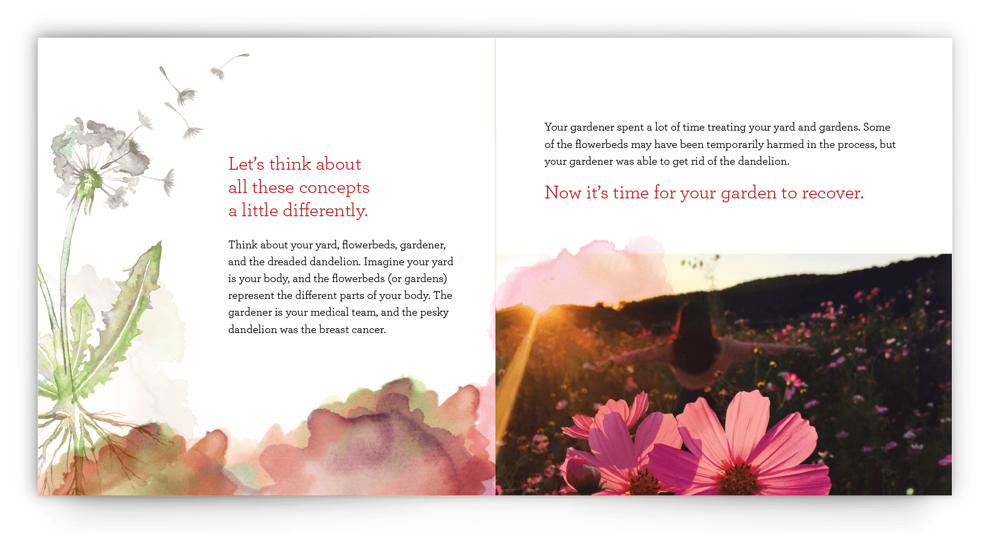 breast cancer survivorship booklet inside pages