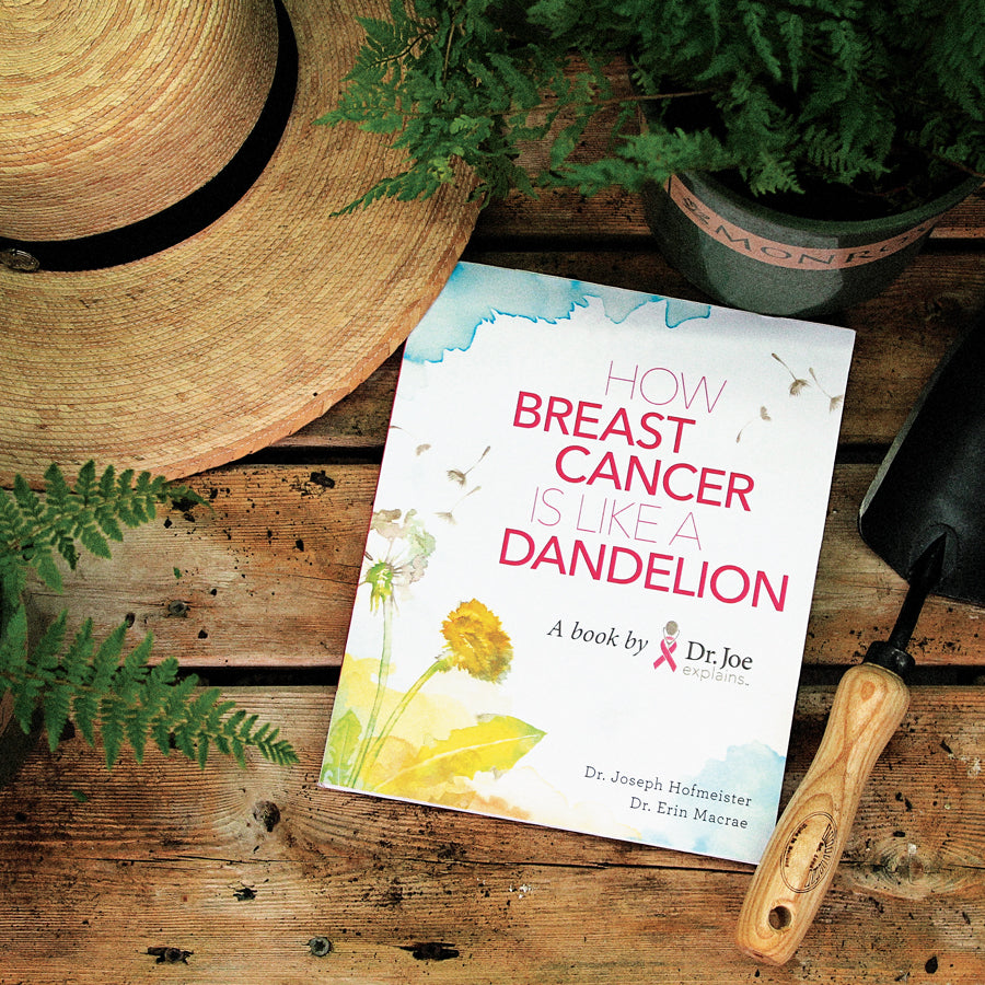how breast cancer is like a dandelion book in the garden