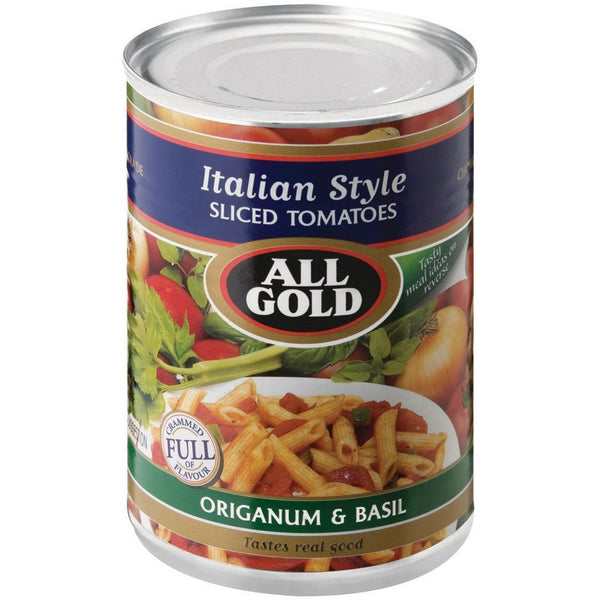 ALL GOLD Italian Style Sliced Tomatoes 410g