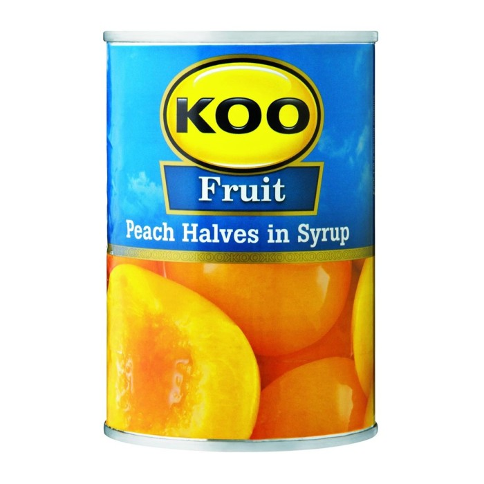 Koo Fruit - Peach Halves in Syrup 410g