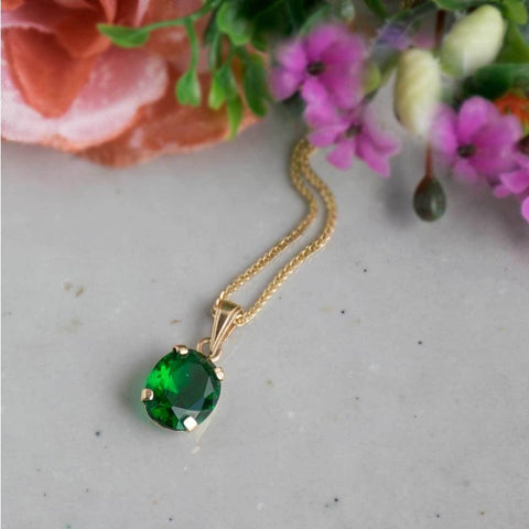 products/42552-aditagold-pendant-classic-jewelry-yellow-gold-green-cz-8x10mm-3.jpg
