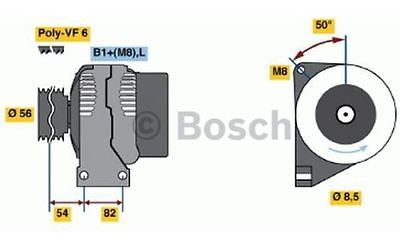 Genuine Bosch 0986041740 Alternator fits Volvo S60 V70 C70 S70 S80 120amp - Flying Penguin Autoparts