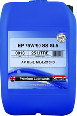 Granville 0013 Granville EP 75/90 Semi-Synthetic 25l Gear Oil Transmission Fluid - Flying Penguin Autoparts