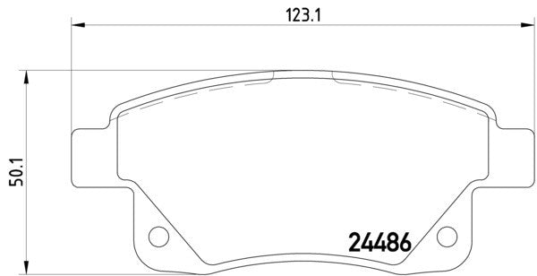 Mintex MDB2853 Rear Brake Pads