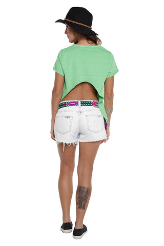 Blusa Open Back Cut Verde