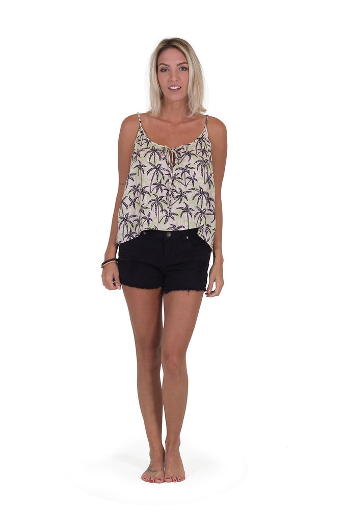 Blusa Long Side Palm Tree