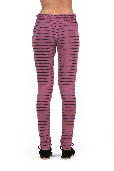 Calça Striped Bordô