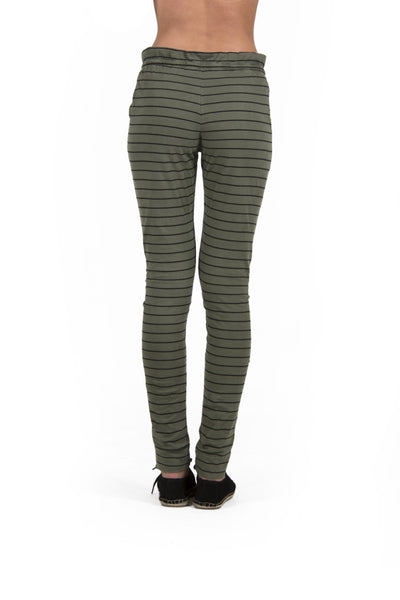 Calça Striped Verde Militar