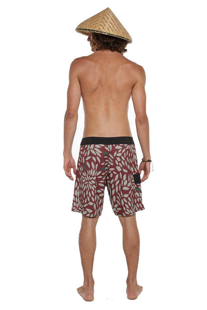 BoardShort Foliage Bordô