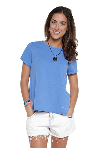 Blusa Open Back Cut Azul