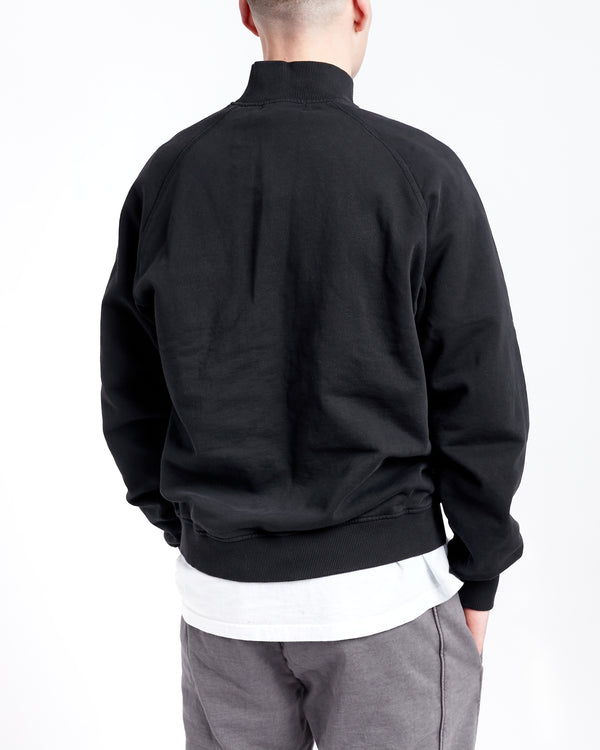 HEAVYWEIGHT QUARTER ZIP - BLACK