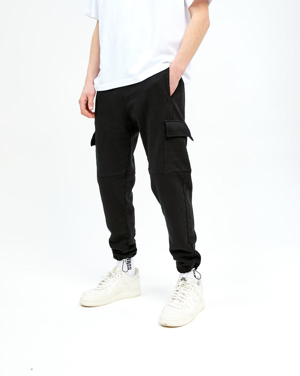 CARGO FLIGHT SWEATPANT - BLACK