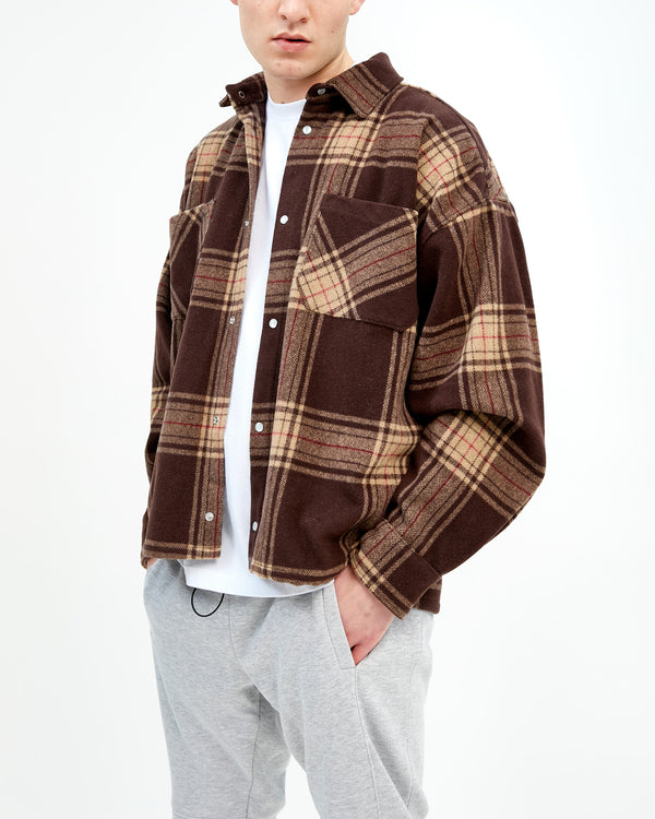 HEAVYWEIGHT FLANNEL - BROWN