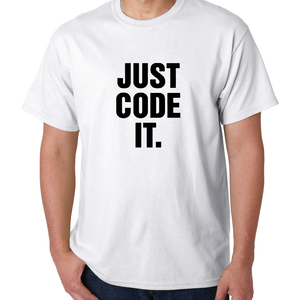 Just Code It White Mens Shirt