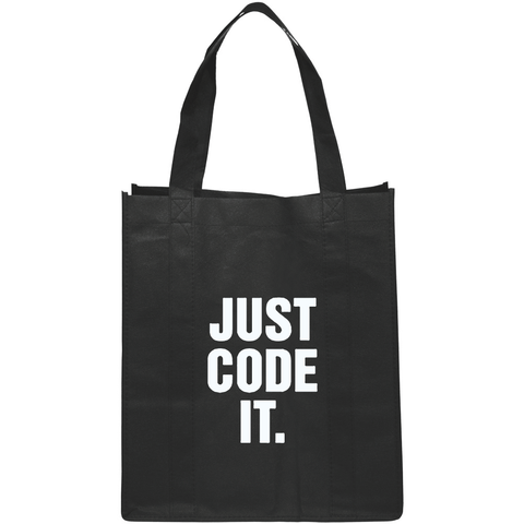 """JUST CODE IT"" Black Tote Bag"