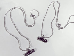 """Nerd"" Silver Necklace"