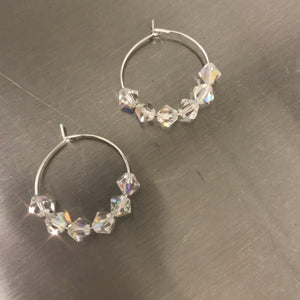 """Hedy"" Swarovski Crystal Hoop Earrings"