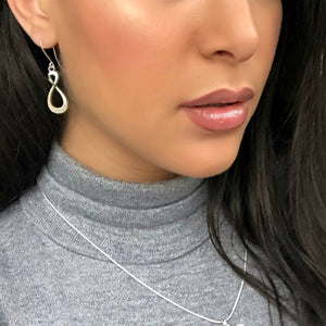"""Infinity"" Drop Silver Earrings"