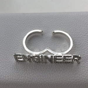 ENGINEER Double Finger Ring, Adjustable