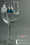 'Hypatia' Swarovski Turquoise Pearl drop earrings