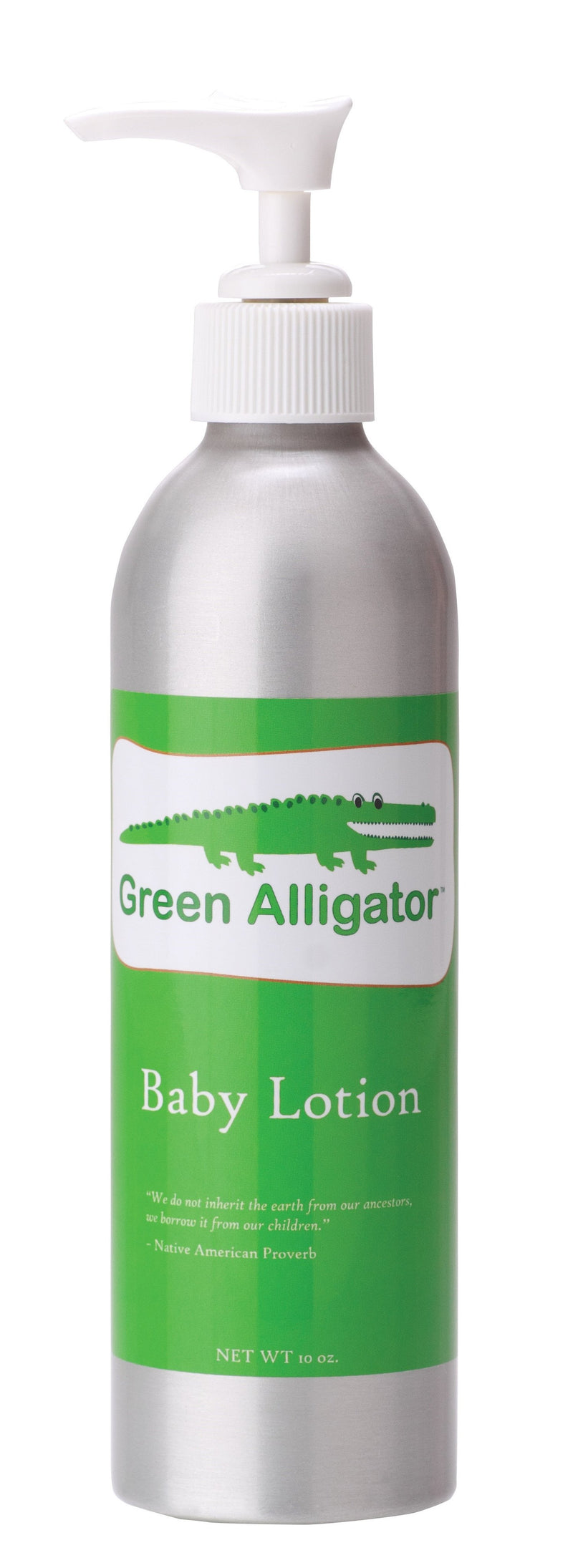Green Alligator Baby Lotion- Celadon Road- www.celadonroad.com